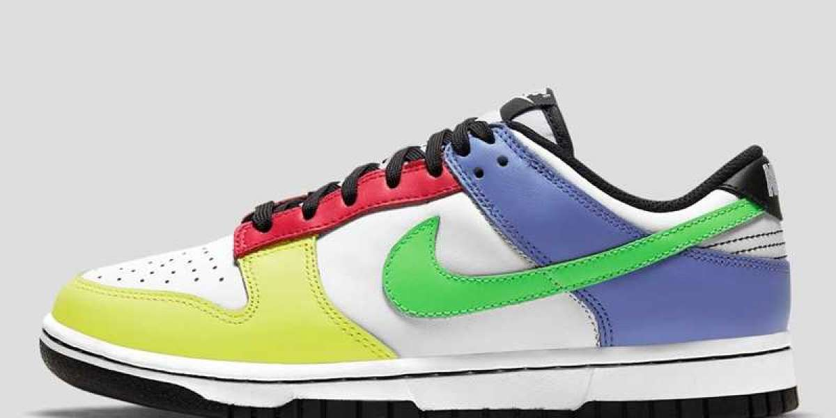 """This Women's Nike Dunk Low """"Multi-Color"""" DD1503-106 Shoes Hot Sell"""