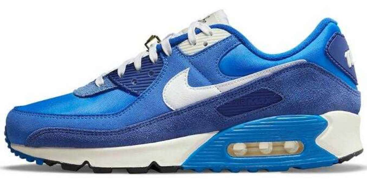 New Stylish Nike's Air Max 90 Signal Blue for Online Sale