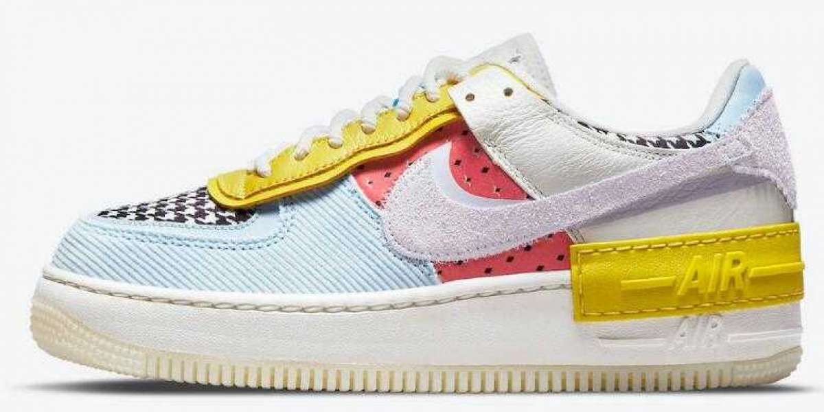 Newest Nike Air Force 1 Shadow Multi-Color Got Mix Patterns and Textures